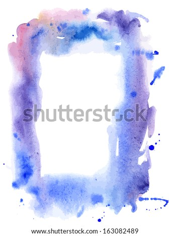 Abstract vector water color frame