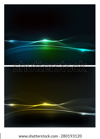 abstract vector wave light lines