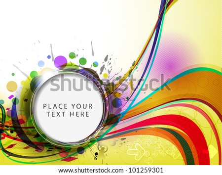 Abstract vector wave line background.