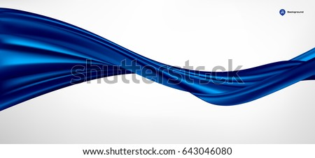 Abstract vector wave silk or satin fabric on white background for grand opening ceremony or other occasion