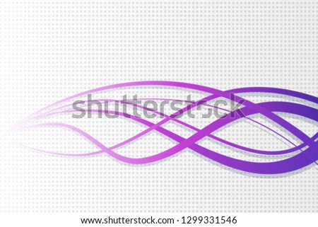 Abstract vector wavy background. Wavy lines on dotted background