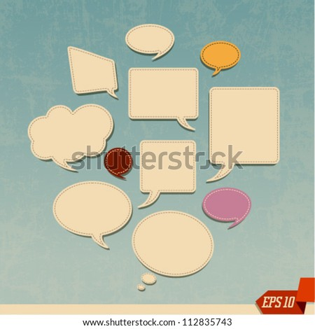Abstract vector web design bubble and clouds - stock vector