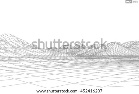 abstract vector wireframe