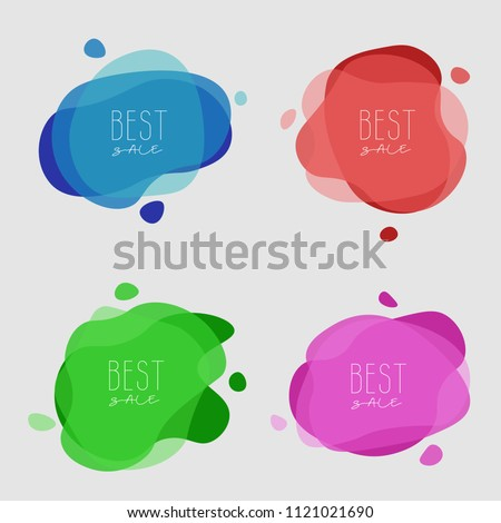 Abstract vector with four colors. Useful for sale, event, school and other ingormation.