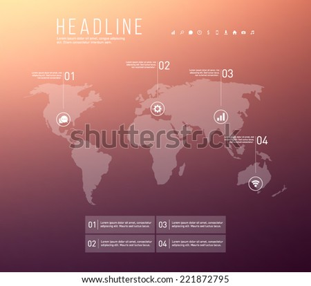 abstract vector world map
