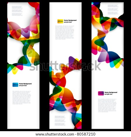 Abstract vertical banner with forms of empty frames for your web design.