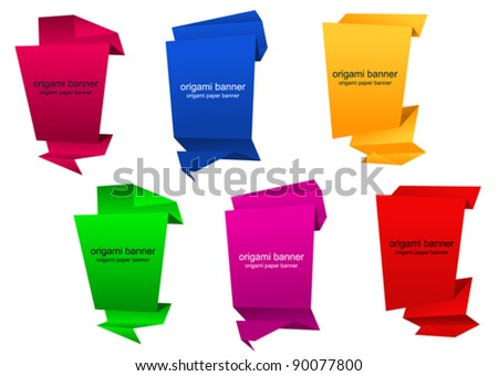 Abstract vertical banners in origami style for web design. Jpeg version also available in gallery