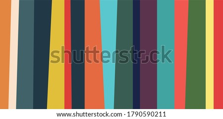 Abstract Vertical Linear Pattern Backdrop. Vibrant striped background and vector seamless pattern from irregular stripes and vertical lines. Bright colors. Colorful stripes. Vector Illustration.