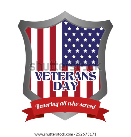 abstract veteran day object on