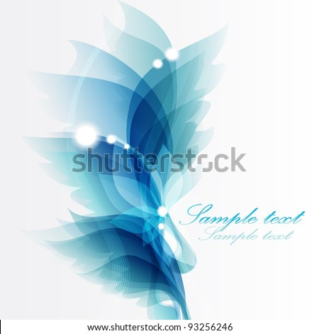 Abstract vintage blue background for design