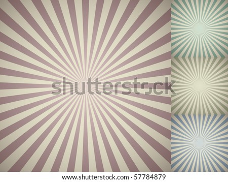 Abstract vintage colored sun burst background. - stock vector