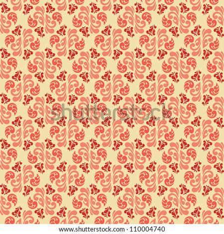 Abstract vintage damask seamless pattern. Design element