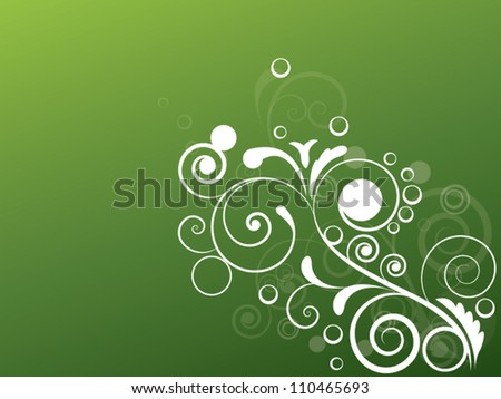 abstract vintage l background in vector with floral elements