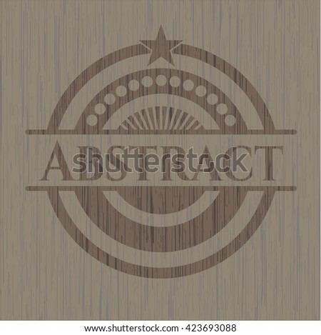 Abstract vintage wood emblem