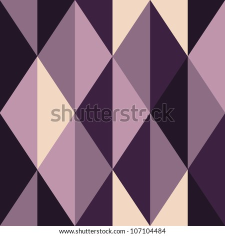 Abstract violet seamless pattern, rhombus-shaped, vector