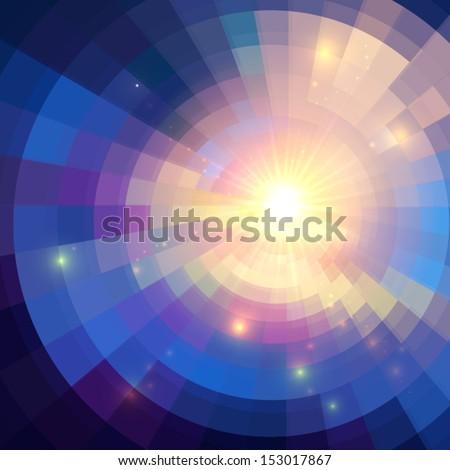 abstract violet shining circle
