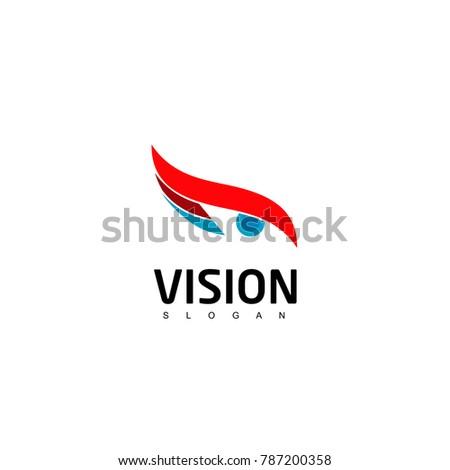 abstract vision logo  eye logo