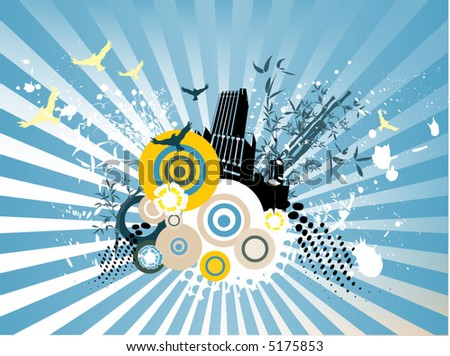 wallpaper abstract. stock vector : abstract wallpaper with many desing elements