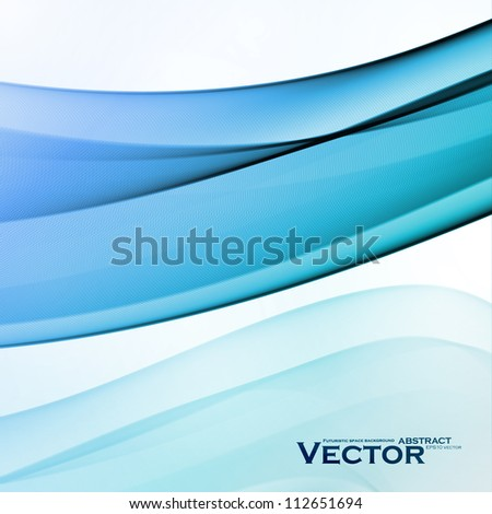 Abstract water background, vector wave illustration eps10