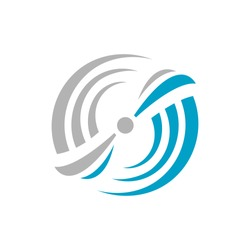abstract water wind spinning turbine logo design vector illustrations