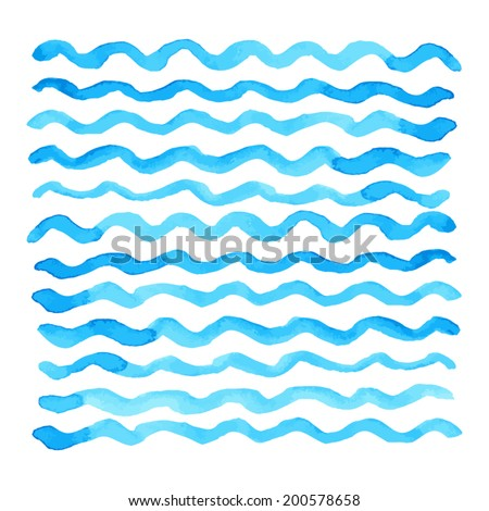abstract watercolor blue wave