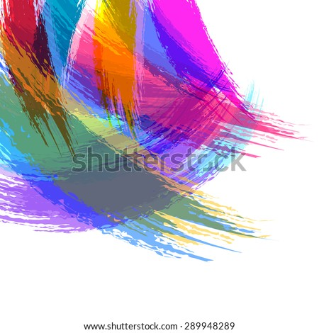 abstract watercolor brush