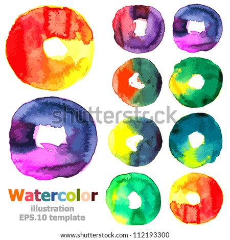 Abstract watercolor collection ; EPS.10 vector