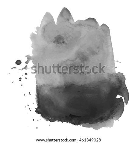 abstract watercolor grayscale