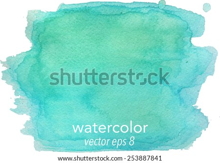 Abstract watercolor hand paint texture, isolated on white background, watercolor textured backdrop, watercolor drop, traced, vector eps 8