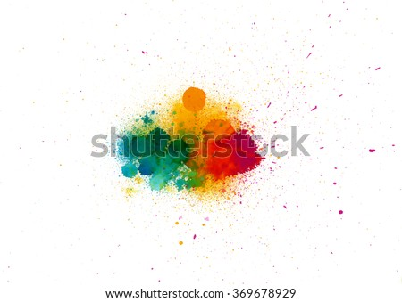 abstract  watercolor palette of
