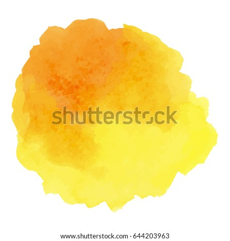 abstract watercolor yellow hand