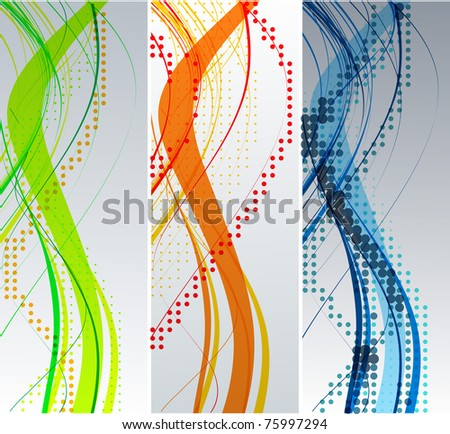 Abstract wave background composition - vector illustration