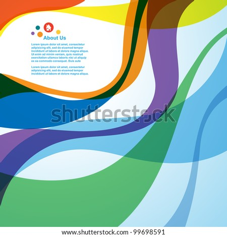 Abstract wave background, vector