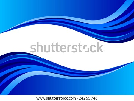 stock vector : abstract wave blue background; clip-art