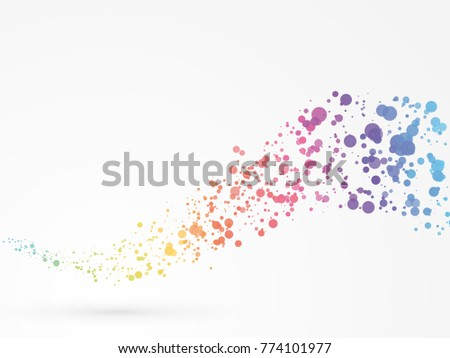 abstract wave dots background