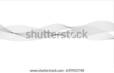 abstract wave element for