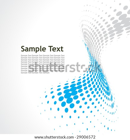 Abstract wave halftone line background with sample text background