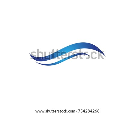 Abstract wave logo design template