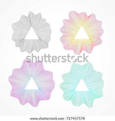 abstract wave moire vector