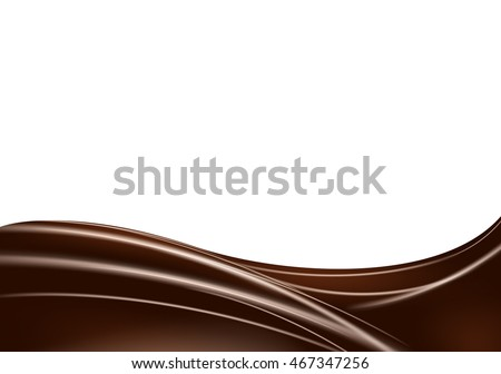 abstract wave of chocolate