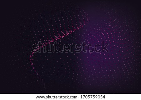 abstract wave of particles