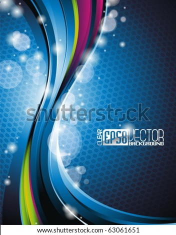 Abstract wave vector background.