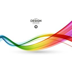 Abstract wave vector background, rainbow  waved lines for brochure, website, flyer design. Spectrum wave color.  Smoky color wave.  Wavy line color