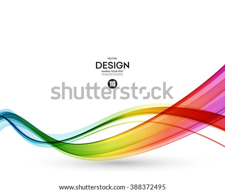 Abstract wave vector background, rainbow  waved lines for brochure, website, flyer design. Spectrum wave color.  Smoky color wave.  Wavy line color