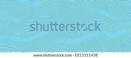 Abstract wave vector background . Stylized flowing water . Graphic line art. stock photo