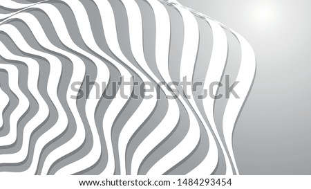 Abstract Wave. White Stripes. Curve white flow. Motion Line. Vector illustration . Curved Lines