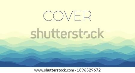 abstract waves cover