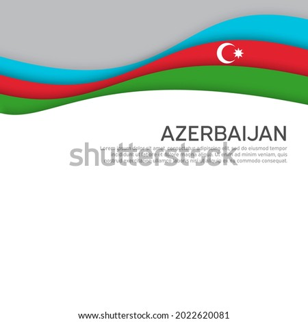 Abstract waving azerbaijan flag. Paper cut style. Creative background for design of patriotic holiday card. Azerbaijan national poster. State azerbaijani patriotic cover, flyer. Vector design