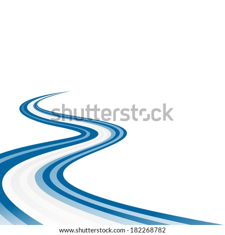 abstract waving blue white blue