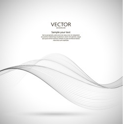 Abstract wavy background. Dynamic illustration